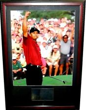Tiger Woods signed 2001 Masters 16x20 poster size golf photo framed UDA #306/500