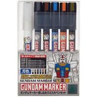GSI Creos Gundam Marker GMS122 Pouring Sumi Pen Set 6pcs Japan F/S