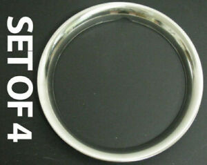 """New 14"""" Stainless Steel Beauty Trim Rings SET OF FOUR"""