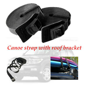 2XMulti-functional 3m×3.8cm Roof Luggage Rack Kayak Surf Tie Down Straps 15FT
