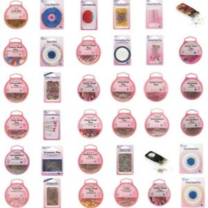 Hemline Selection Sewing Pins Dressmaking Quilters Glass, Steel, Bridal, Pearl