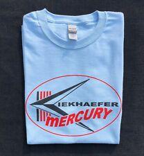 Kiekhaefer Mercury Vintage Style Outboard Motor Shirt Retro Nautical Light Blue