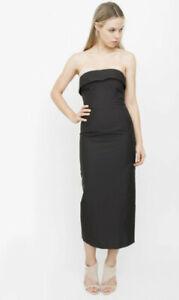 Vintage Black Jean Paul Gaultier Strapless Pencil Dress Sz 10 UK