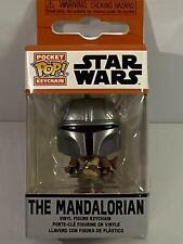 More details for the mandalorian star wars pocket pop keychain funko 53045