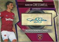 MATCH ATTAX ULTIMATE 2018/19 AARON CRESSWELL AUTOGRAPH CARD