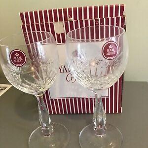 ROYAL ALBERT CRYSTAL REGENCY X  2 WINE GLASSES BOXED