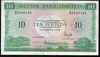 ULSTER bank LTD Belfast £10 ten pound banknote 1982 1988 1989 1990 Real currency