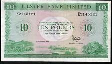 More details for ulster bank ltd belfast £10 ten pound banknote 1982 1988 1989 1990 real currency