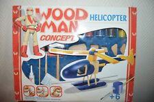 MAQUETTE HELICOPETRE  WOODMAN CONCEPT BOIS MODEL KIT + PINCEAU HELICOPER