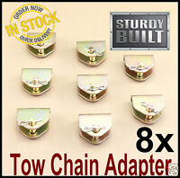 """8x Chain Adapter G70 Tow Chain Ratchet Tie Down Straps FlatBed Truck Car Axle 2"""""""