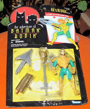1995 Kenner Batman and Robin Action Figure Ra's Al Ghul W/Strike Shooter MOC