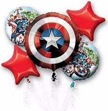 AVENGERS SHIELD Balloon Bouquet ~ Boys Birthday Decorations Party Supplies ~ 5pc
