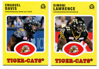 2016 OPC CFL Emanuel Davis and Simoni Lawrence Hamilton Tiger Cats 2 Card Lot