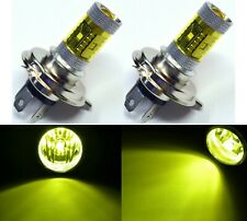 LED 30W 9003 HB2 H4 Yellow 3000K Two Bulbs Head Light Rally Off Road Show Use OE