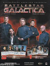 BATTLESTAR GALACTICA SEASON 3 ULTRA MASTER SET AUTOGRAPHS COSTUMES INCENTIVES+++