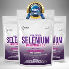 SELENIUM Vitamin A, Vitamin C, Vitamin E Tablets, Hair Nails Skin & Beauty Pills