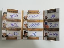 2015-16 THE CUP HOCKEY-NINE WAY SIGNATURE BOOKLET 7/9 OVECHKIN.MALKIN...