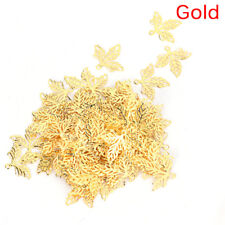 100X Leaves Filigree DIY Accessories Metal Craft Connector For Jewelry Making