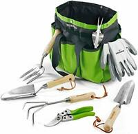 WORKPRO 7 Piece Garden Tools Set, Stainless Steel Hand Tools with Wooden Handle