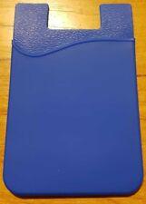 2 × Blue Smart Silicone Mobile Wallet Card 3M  Credit Card Cash Holder IPhone