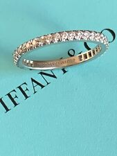 Tiffany & Co Platinum Soleste Full Circle Diamond Wedding Band Ring $3400