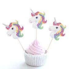 12 Pièces Licorne Cupcake Décoration Cure-Dents Gâteau pour Fête D'Anniversaire