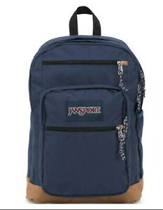 JanSport Cool Student School Laptop Backpack Back Pack Navy Blue New with Tags