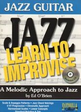 Jazz Guitar - Learn to Improvise, a Melodic Approach to Jazz  Free Shipping!