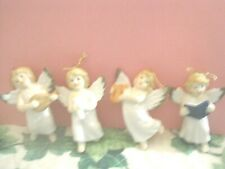 Russ Berrie Angel Ornament Lot Of 4 (Ioo1)