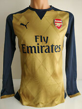 Arsenal 15/16 Away Long Sleeve Jersey EPL Version Puma ACTV Size L