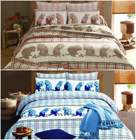 Squriell Design Premium Quality Printed Duvet Quilt Cover Bedding Set All Sizes