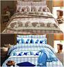 Squriell Design Premium Quality Printed Duvet Quilt Cover Bedding Set All Sizes