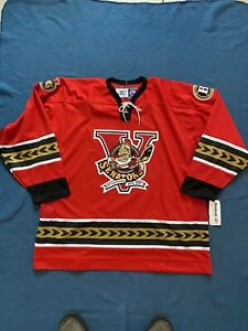 5th ANNIVERSARY 06-07 BINGHAMTON SENATORS AUTHENTIC AHL REEBOK Hockey Jersey XXL