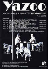 Yazoo 'RECONNECTED' 2008 UK Tour A5 Flyer New