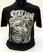 Stay Low T-Shirt Mens S-2XL Graffiti Biker Rider Lowrider Skeleton Skater