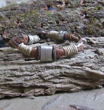 Streetstyle Leder Armband braun Bracelet Herren Surfer Pulsera Leather Vintage