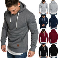 New Winter Mens Hooded Hoodie Sweatshirt Sweater Jumper Outwear Coat Jacket Tops
