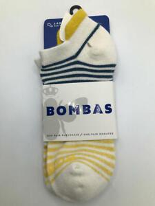 Bombas Women's Shadow Stripe Ankle Socks large
