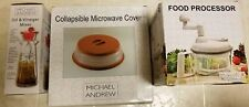 Michael Andrew Collection Food Processor Collapsible Microwave Oil Vinegar Mixer