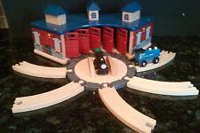 Wooden Train ROUNDHOUSE Building  SHED Brio Thomas The Train Imaginarium