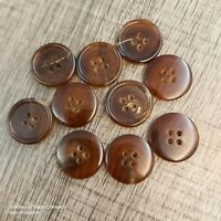 J167 LOT 8 28L 18mm Light Brown Luxury Real Buffalo Horn Button Coat Jacket suit