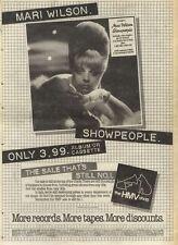 19/2/83PN48 ADVERT: MARI WILSONS ALBUM SHOWPEOPLE 0NLYAT HMY 15X11