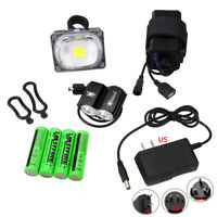 SolarStorm 5000LM 2x T6 LED Head Front Bicycle Light Bike Headlight Lamp 4x18650