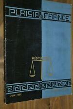 Plaisir de France numéro spécial Juin 1952 / La méditérranée / Leonard de Vinci