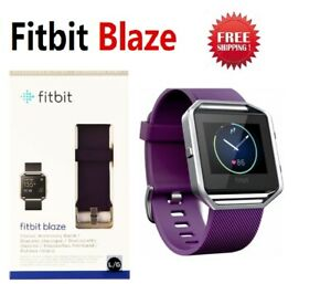 Fitbit Blaze FB502 Smart Fitness Watch Activity Tracker Purple Plum Large Small