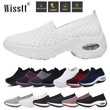 Low Top Shoes Air Cushion Women Plus Size Mesh Trainers Breathable Walking Sport