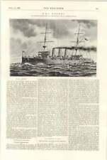 1898 HMS Hermes Fairfield Fauvel oro proceso de recuperación huelga de carbón