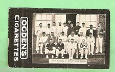 OGDENS CRICKET TAB CIGARETTE CARD 1901  LONDON COUNTY TEAM (PLAYED ALL IRELAND)
