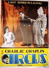 "THE CIRCUS (1928) CHARLES CHAPLIN POSTER ORIGINAL INDIA 29""X 39"""