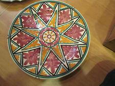 ancienne assiette en faience de quimper signée yvon roy feuilles de chene